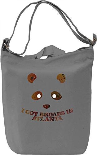 Panda Desiigner Borsa Giornaliera Canvas Canvas Day Bag| 100% Premium Cotton Canvas| DTG Printing|