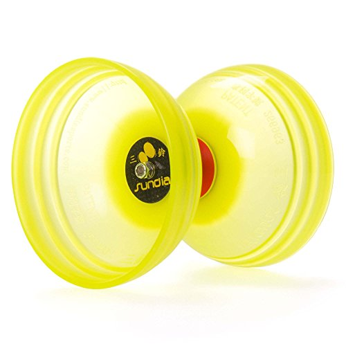 Sundia Shining Series Trtiple Bearing Diabolo + Travel Bag! Wide Clutch Triple Bearing Axle Spinning Diablo for Intermediate and Experts!No handsticks included (Yellow) by Sundia / Flames N Games (Image #4)