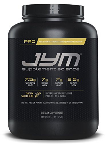 JYM Supplement Science, PRO JYM, An optimal Blend of Whey, Casein, and Egg Proteins, Tahitian Vanilla Bean, 4lb Protein (Whey Vanilla Bean)