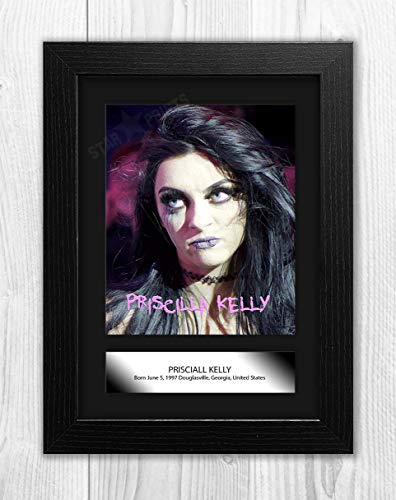 Engravia Digital Priscilla Kelly WWE A4 Poster with Reproduction Picture Photo A4 Print (Black Frame)]()