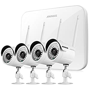 28. SANNCE 4CH 720P HD NVR Wireless Security CCTV Surveillance Systems