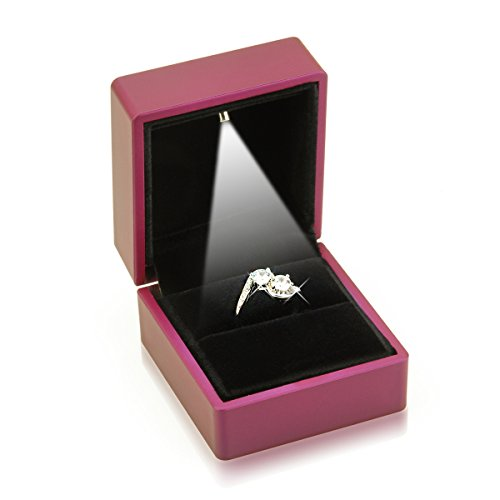Geff House Engagement Jewelry Ring Box With Led Light