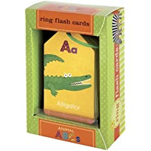Mudpuppy Animal ABCs Flash Cards for Ages 3 to 7 – Fun Illustrations on Two-Sided Flash Cards Help Kids Learn Alphabet