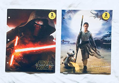 School Supplies- Star Wars Pocket Folders and Subject Notebook- Pack of 5 by hunted treasures