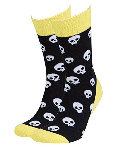 Skull Dots Sock - Socks n Socks-Men's Luxury Cotton Colorful Funky Skulls Socks
