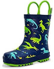 Natural Rubber Rain Boots Toddler Boys Girls Kids