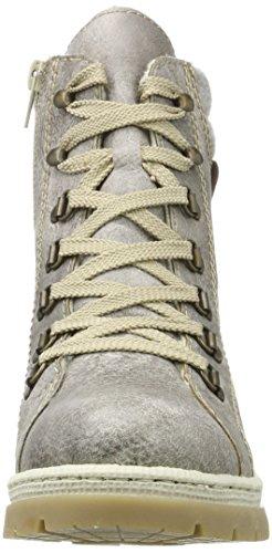 Rieker Women's Y9430 Ankle Boots, Grey, 3.5 UK Grey (Asche/Fog/Kastanie 43)