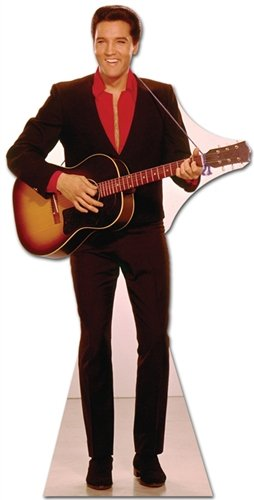 (Elvis Presley Cardboard Cutout Standup Red Shirt with Guitar)