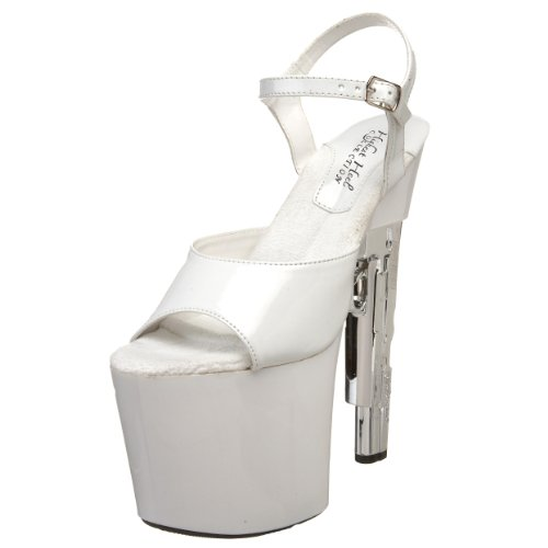 The Highest Heel Women's Magnum 11 Platform Sandal,White Patent,9 M US