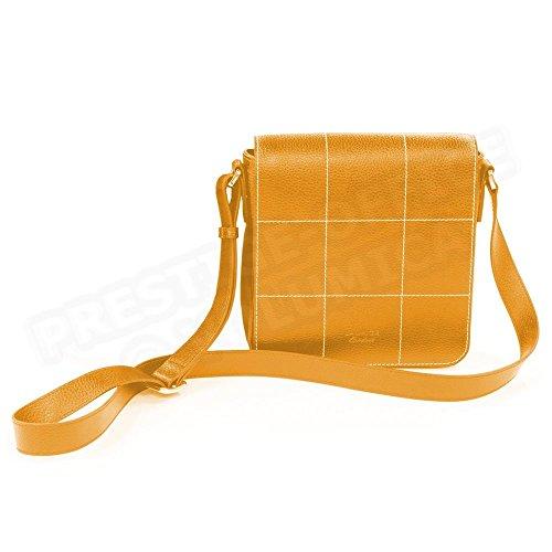 Volumica Besace La Rochelle cuir Orange Beaubourg