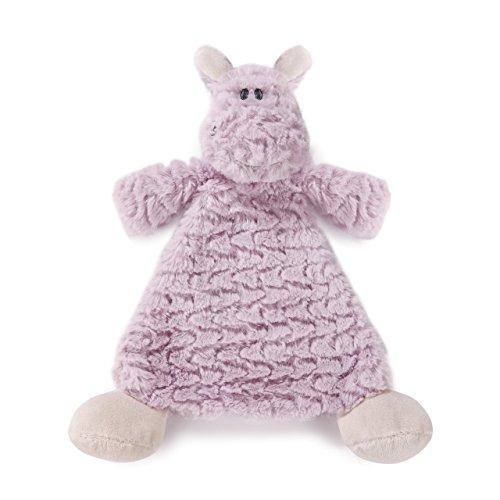 Harlow Hippo Lavender Children's Plush Rattle Blankie (Hippo Travel Blanket)