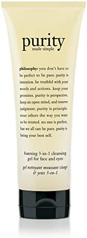 philosophy Purity Made Simple Foaming 3-in-1 Cleansing Gel for Face and Eyes - 7.5 oz