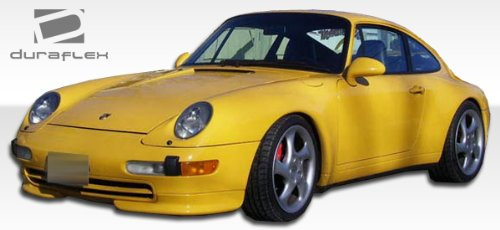 (Duraflex ED-SSM-607 RS Look Front Add On Bumper Extensions - 2 Piece Body Kit - Compatible For Porsche 993 1995-1998)