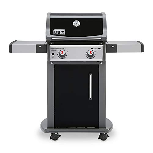 (Weber 46110001 Spirit E-210 LP Gas Grill, Black)