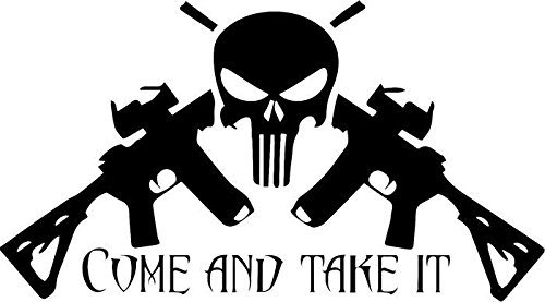 Punisher Come and Take It AR-15 Gun Vinyl Decal Sticker Bumper Car Truck Window- 6