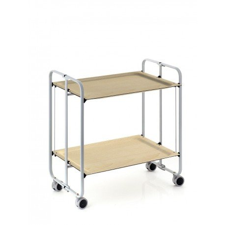 Mesa plegable con ruedas - Estructura de aluminio - Color gris - 4 diferentes posiciones Gran variedad de bandejas disponibles, Haya, talla única: ...