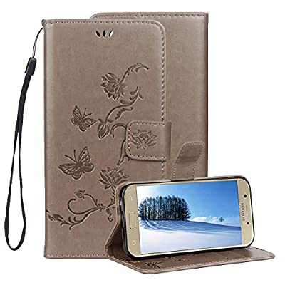 Embossed Leather Case for Samsung Galaxy J4 2018,