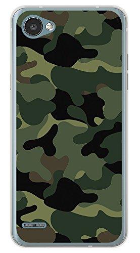 Tumundosmartphone Funda Gel TPU para LG Q6 diseño Camuflaje Dibujos