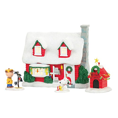 Department 56 Charlie Brown s House Village Building Multicolored Resin 9 in. x 5-3 8 in. x 7-1