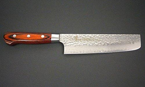 Sakai Takayuki Hammered Damascus 33 Layer Vg-10 Japanese 07393 Vegetable 160mm Nakiri Knife