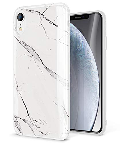 Glossy Case Cover - GVIEWIN Marble iPhone XR Case, Ultra Slim Thin Glossy Soft TPU Rubber Gel Silicone Phone Case Cover Compatible iPhone XR 2018 6.1