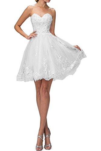Spitze Kleider Abendkleider Cocktailkleider Brautmutterkleider Suessig Blau La Marie Weiß Jugendweihe Kurzes Braut vnxWqw8IAX