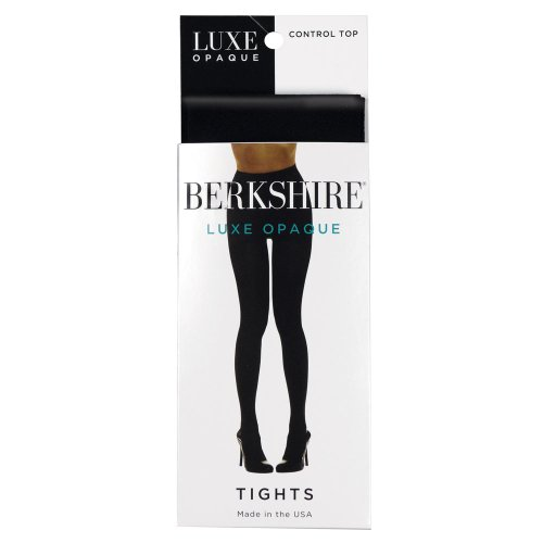 Berkshire Women's Luxe Opaque Control Top Tights 4741, Black, 5X-6X