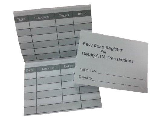5 Debit ATM Mini Checkbook Registers by Easy Read Register (Image #1)