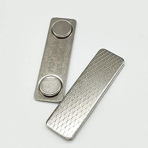 Badge Magnetico cartellino identificativo in Metallo Abilie Resistente 10 Pezzi targhette magnetiche per Nome