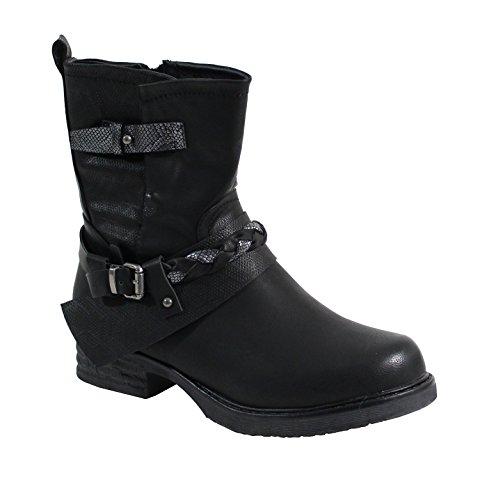 Shoes Shoes Noir Plate Bottine By Bohème Bottine Style By Femme tT5qnwB