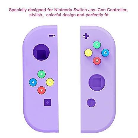 Joycon-RSPU Purple Valpha Juego de Carcasa de Carcasa de Repuesto de Bricolaje para Consola NS NX de Interruptor y Controlador Joy-con de Interruptor Derecho e Izquierdo sin electr/ónica