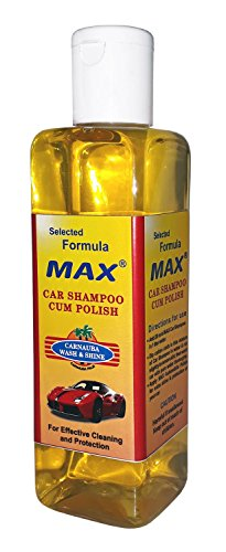 MAX Premium Car Care Kit (Pack of 6 Items - 200 ML Each and Foam 4 Pieces) 6