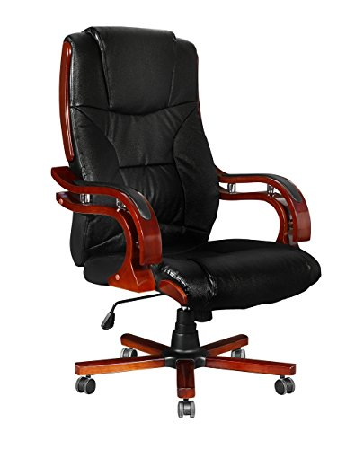 Bürosessel holz  vidaXL Chefsessel Drehstuhl Bürostuhl Holz Stuhl Bürosessel Büro ...