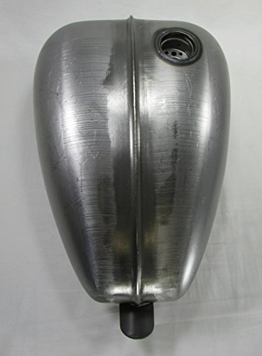 Motorcycle Cafe Racer Fuel Cell Petrol 3.3 Gallon Capacity Steel Ribbed Mustang Chopper Bobber Custom Build Gas Tank