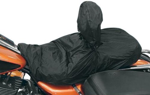 Mustang Motorcycle Seats Rain Cover for Seats with Driver Backrests ()