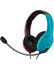 PDP Gaming LVL40 Wired Stereo Gaming Headset: Neon Pop - Nintendo Switch, 500-162-NA-BLRD