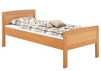 Erst Holz Massivholzbett 100x200 Einzelbett Buche Bettgestell Ohne