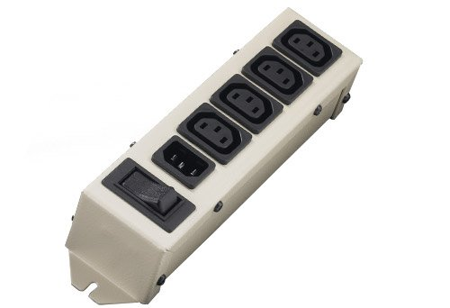 125-240VAC Voltage Interpower 852J2D00 4 Position Accessory Power Strip 10A Rating