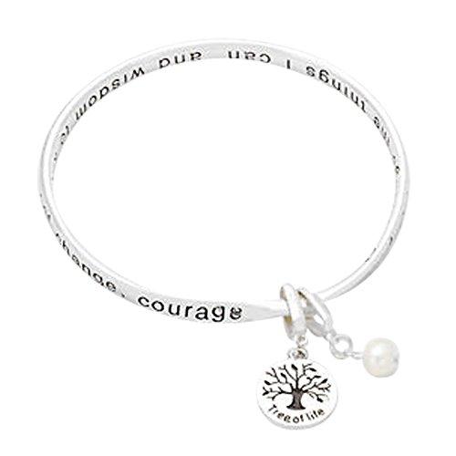 Lola Bella Gifts Serenity Prayer Bangle Bracelet with Gift Box