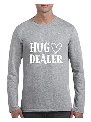 Novelty Funny Hug Dealer Men's Softsyle Long Sleeve T-Shirt (SSG) Sport Grey -