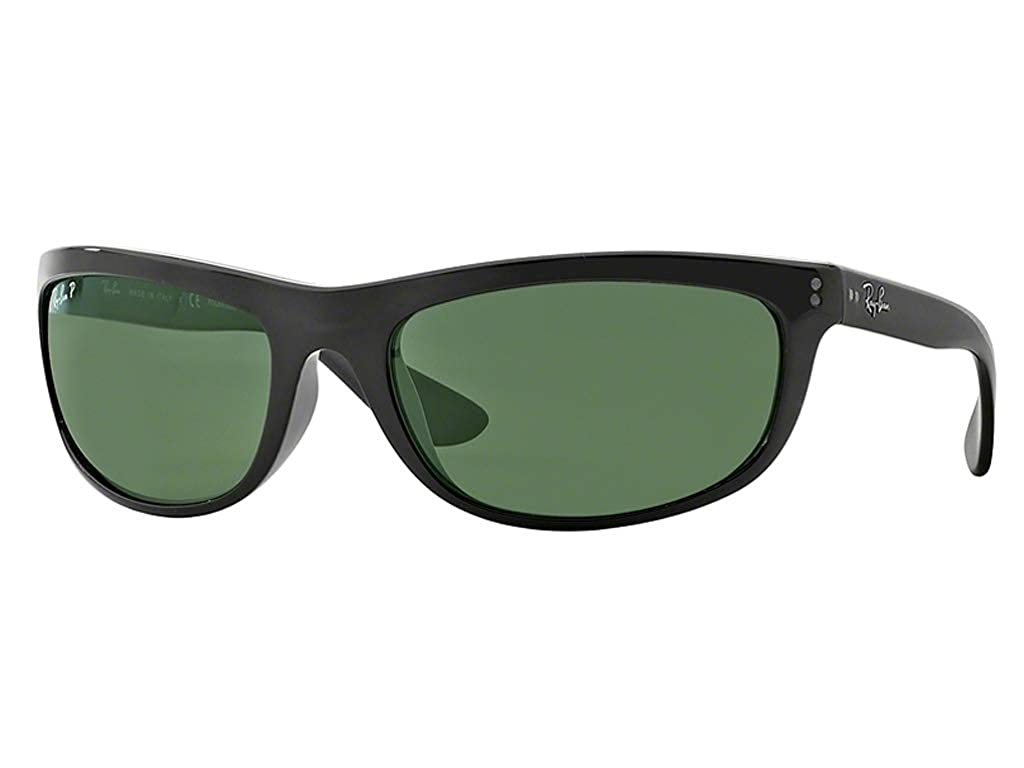 55da40b4ee Amazon.com: Ray-Ban RB 4089 Balorama 601/58 62mm Black Frame Green  Polarized: Shoes