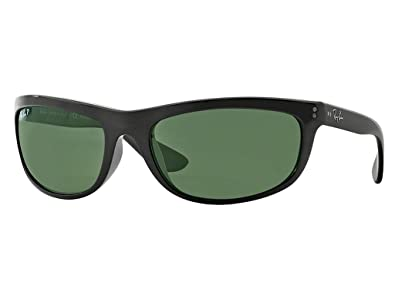 6f00ebcc4 Image Unavailable. Image not available for. Color: Ray-Ban RB 4089 Balorama  601/58 62mm Black Frame Green Polarized