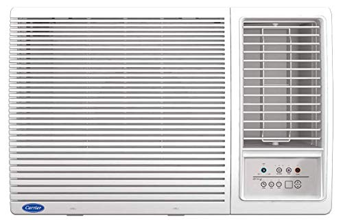 Carrier 1.5T Estrella NX 3 Star Window AC with Energy Saver Mode (2021 Model, White) 2021 June High Ambient Working 100% Copper R-32 Eco Friendly Refrigerant