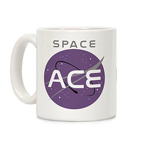 (LookHUMAN Space Ace White 11 Ounce Ceramic Coffee Mug)