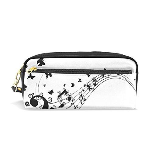 Bennigiry Papillon Note de musique Grande contenance Trousse, enfants Enfants étudiants Stylo Sac étui sac pour voyage école Petit sac Cosmétique