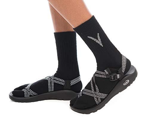 (V-Toe Black Solid Wool Warm Flip-Flop Big Toe Tabi Outdoor Indoor Stylish Hiking Or Casual Men, Womens, Girls Or Boys Socks)