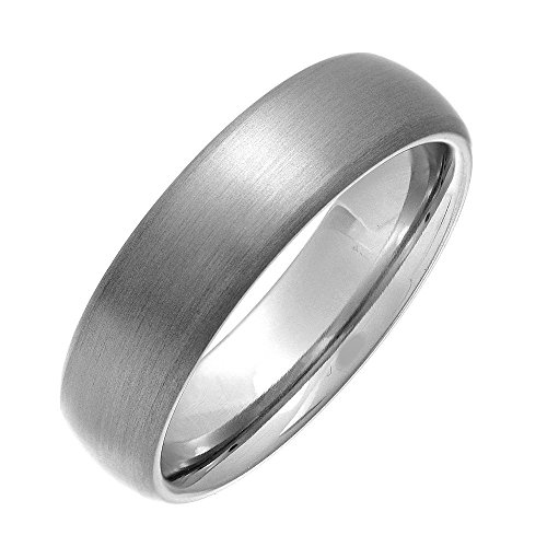 in Titanium Ring Mens Wedding Bands Comfort Fit Size 10 (Titanium Dome)
