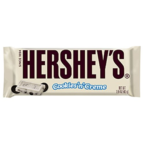 (HERSHEY'S Cookies 'n' Creme Candy Bar, 1.55 Ounce (Pack of 36) )
