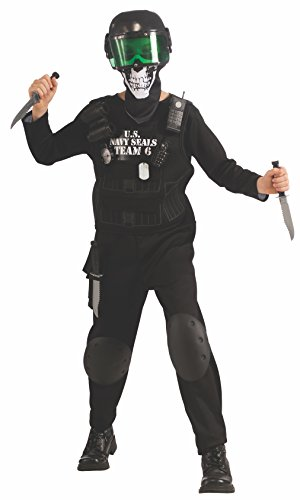 [Value Black Seal Team 6 Costume with Accessories, Large] (Swat Vest Costume)