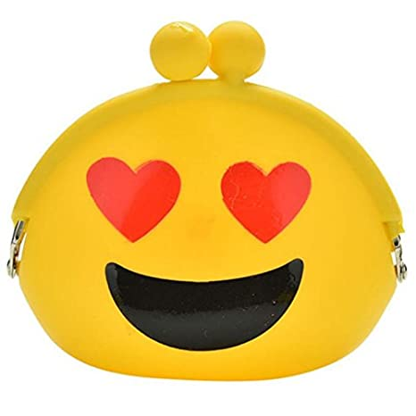 growthci mujeres niñas cartera Kawaii Cartoon Emoji silicona Jelly moneda bolsa bolso regalo para niños: Amazon.es: Hogar
